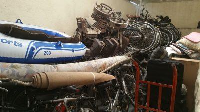 中古ゴムボート、中古自転車