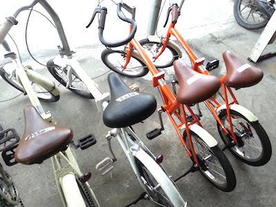 陳列されている中古自転車