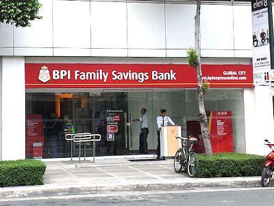 フィリピン大手銀行BPIの入り口