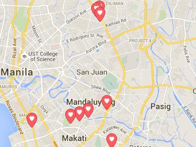 マニラ日本人Airbnb地図