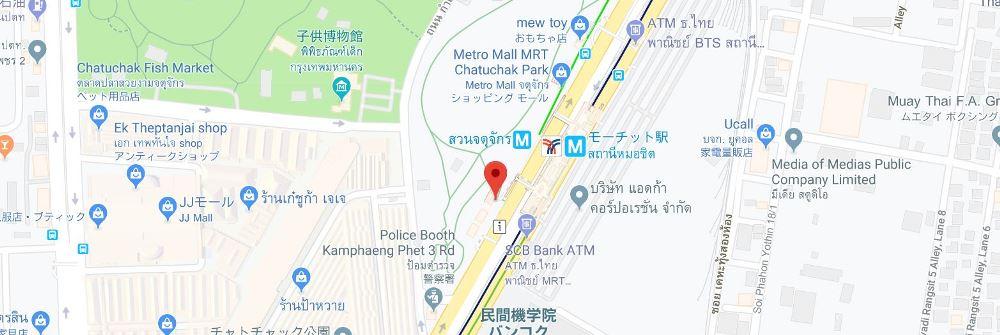 チャトゥチャック公園駅付近ロックボックス地図1