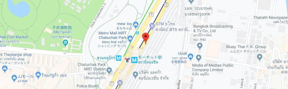チャトゥチャック公園駅付近ロックボックス地図2
