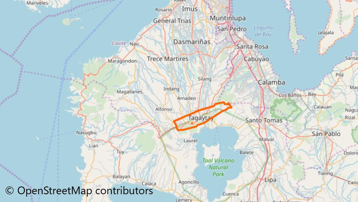 タガイタイの地図