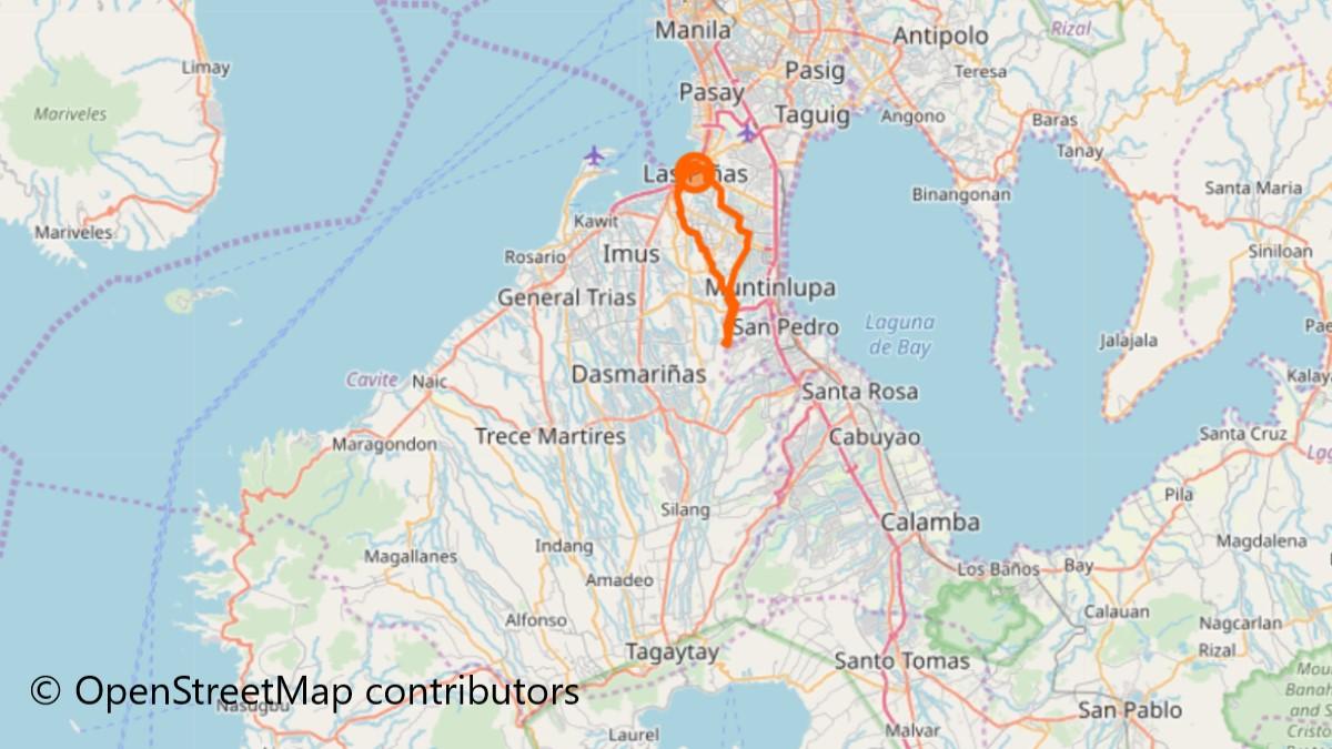 ラスピニャスの地図