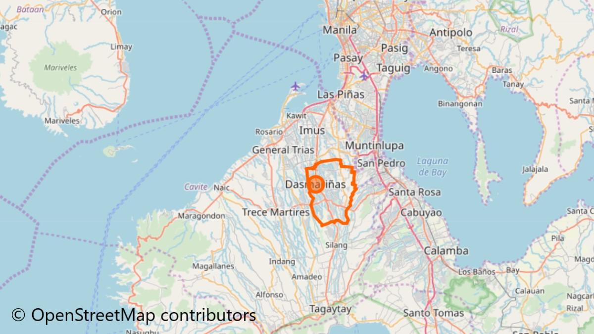 ダスマリニャスの地図