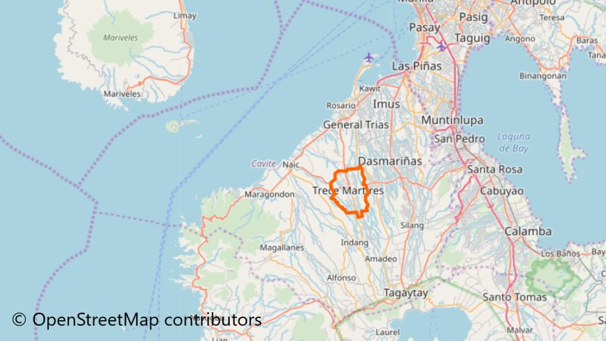 トレセ・マーティレスの地図