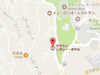 クラウンレガシーホテルの地図