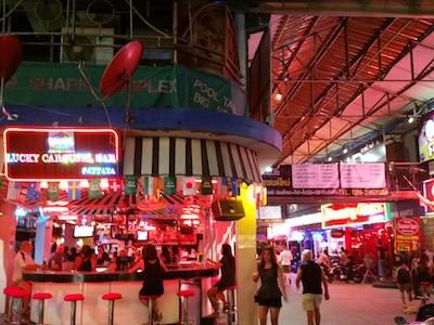 inside Pattaya Walking Street