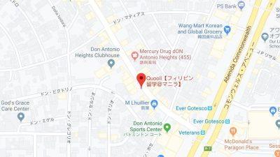 マニラの語学学校クオール地図