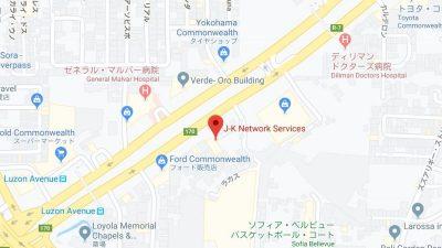 マニラの語学学校JKネットワーク地図