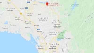 マニラの語学学校パレット地図
