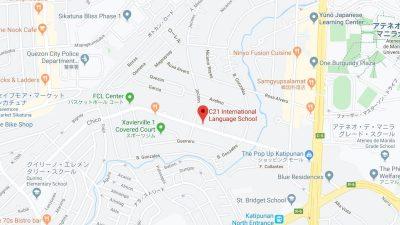 マニラの語学学校C21地図