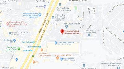 マニラの語学学校EBの地図