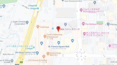 マニラ0円留学の滞在場所地図