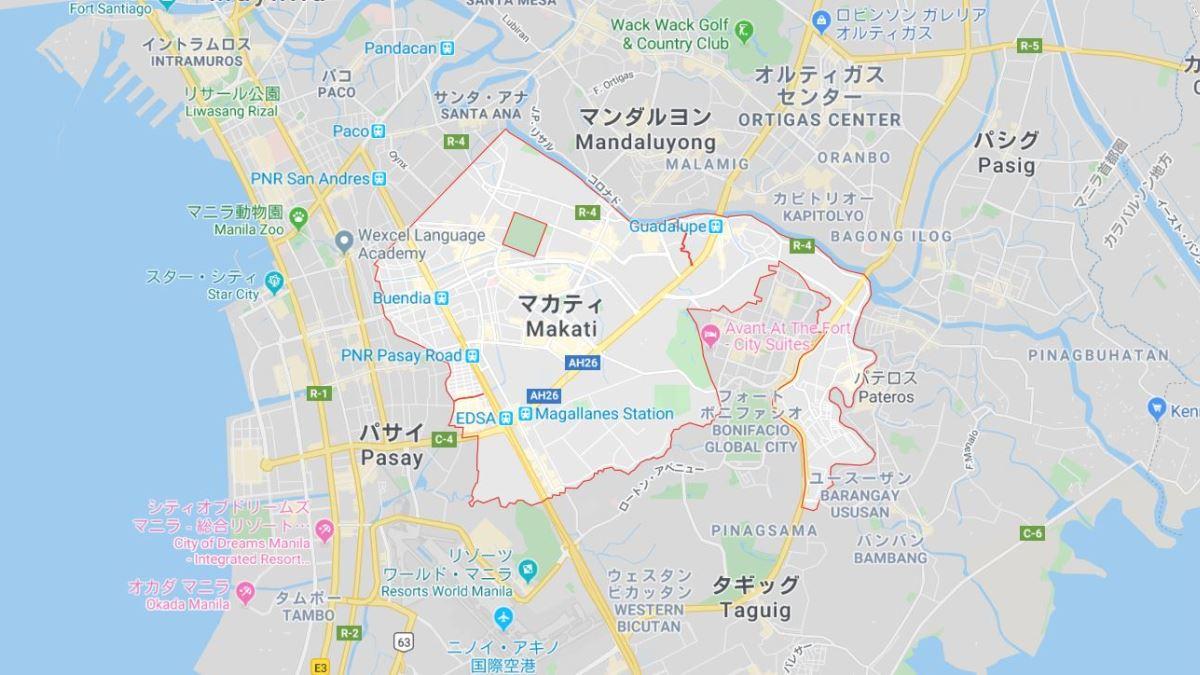 マニラのマカティ市地図