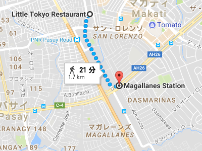 Magallanes駅地図