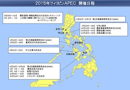 フィリピンAPEC開催日程
