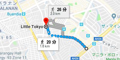 リトル東京への行き方地図
