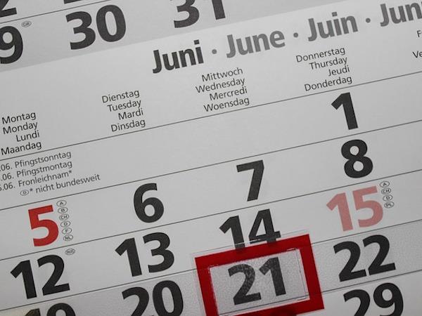 月別カレンダー