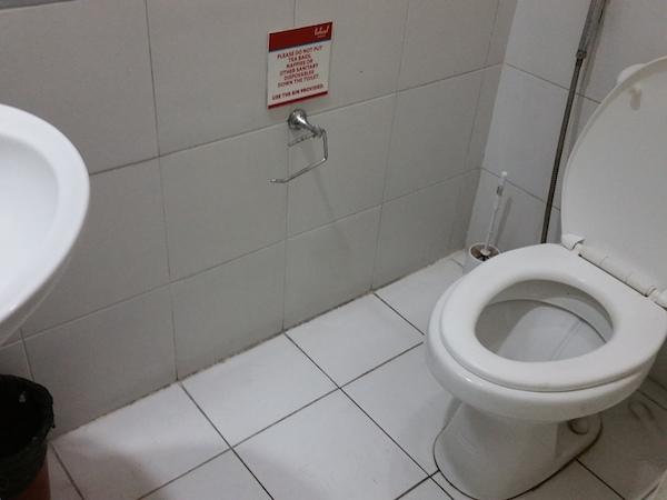 トイレ付きシャワーの便器