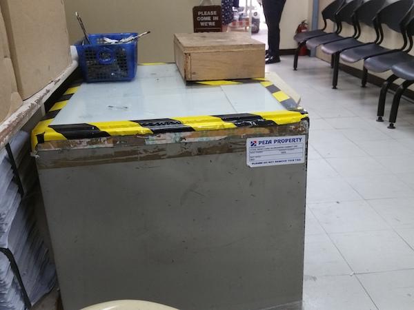 指紋採取木箱