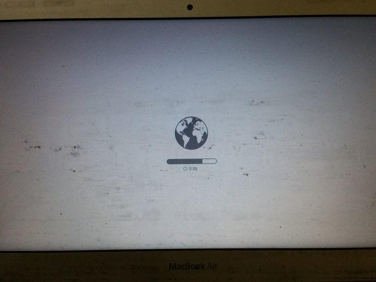 地球マーク画面