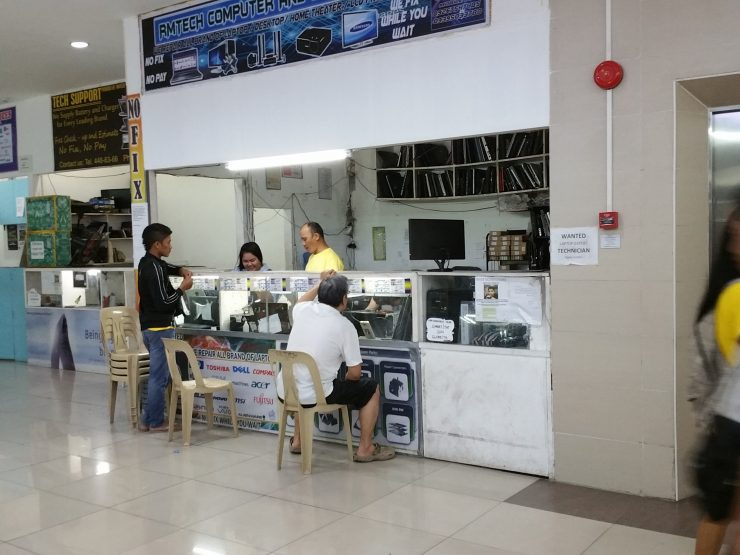 PC修理店と顧客