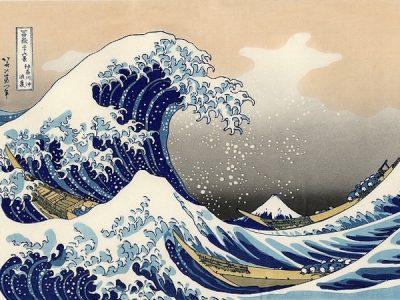 古い波の絵