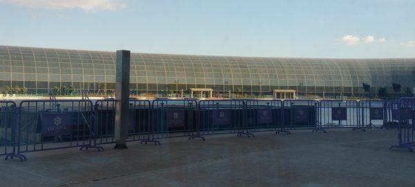 オカダマニラの噴水ショーの場所