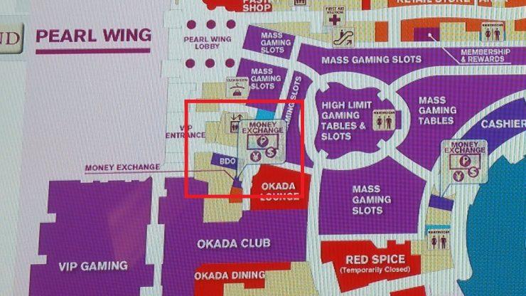 オカダマニラBDOの地図