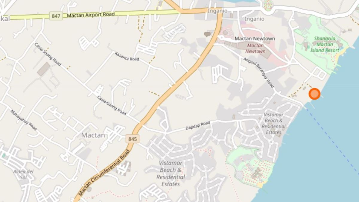 マクタンニュータウン・ビーチの地図
