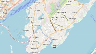 Lowaii cebu marine beach resortの地図