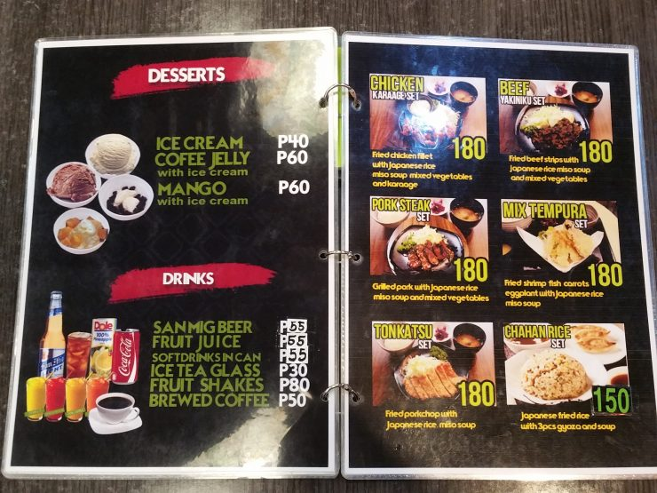 担々麺ハウスマカティ第3支店のメニュー