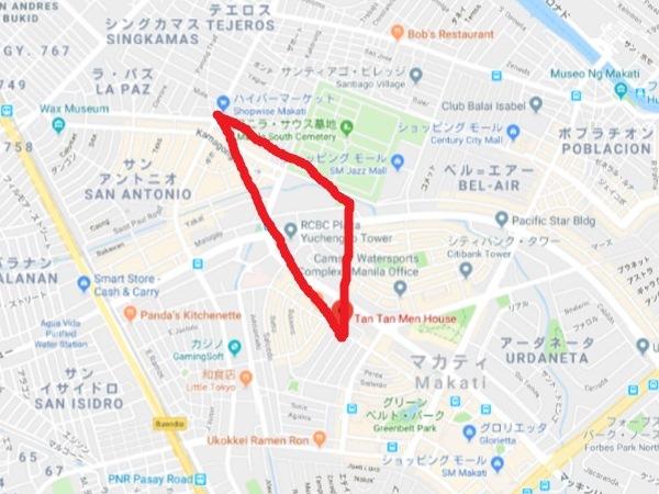 タンタントライアングル地図