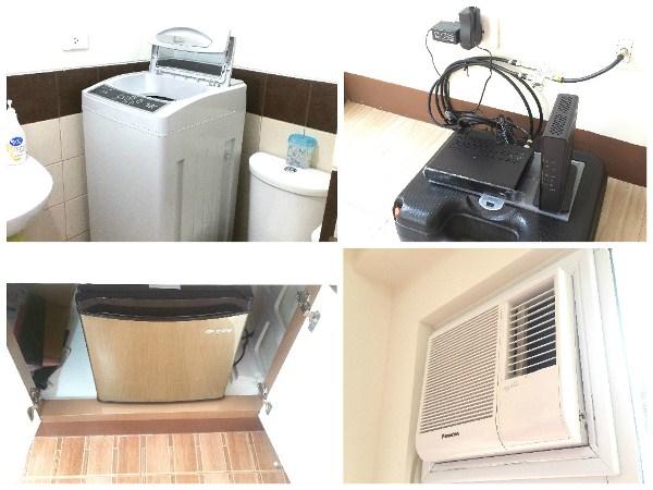 洗濯機、ルーター、冷蔵庫、エアコン