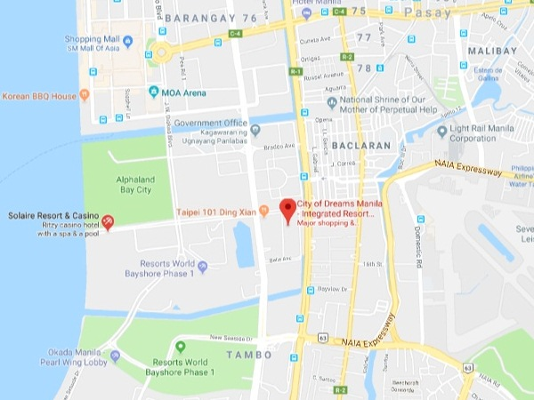 シティオブドリームスマニラ地図