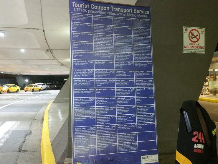 クーポンタクシー料金表