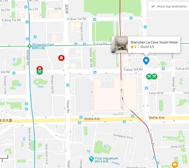 ラ・ケーブユースホテル地図