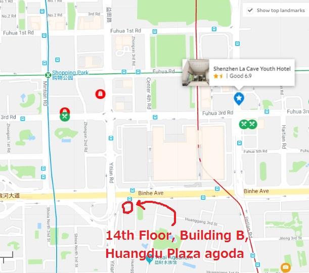 Huangdu Plaza B(皇都B座)地図