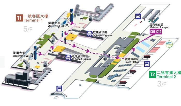 香港国際空港地図