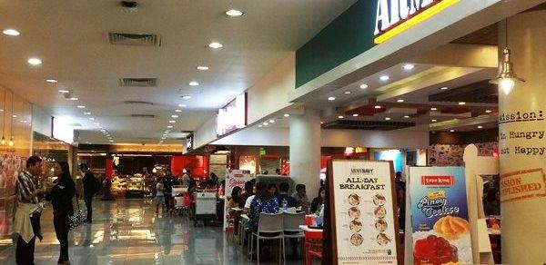 マニラ空港ターミナル3の4階のフードホール内