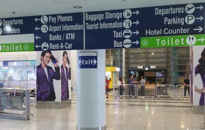 マニラ空港ターミナル3の税関を出たところ