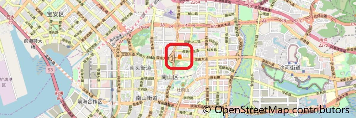 テンセントの新本社ビル地図