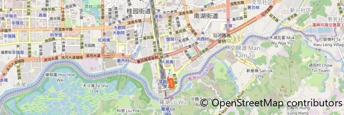 羅湖商業城地図