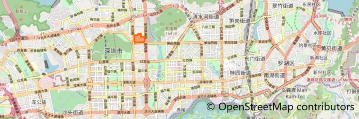 深业上城地図