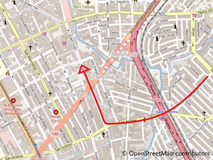 サンアンドレス通り地図