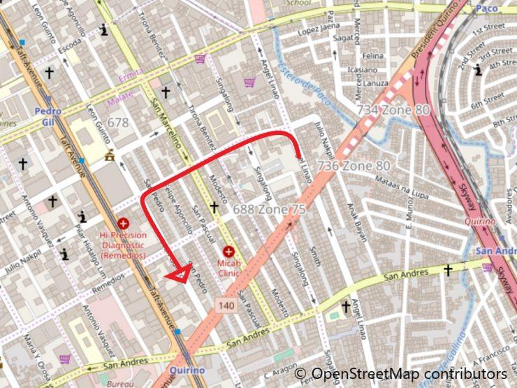 エンジェルリナオ通り地図