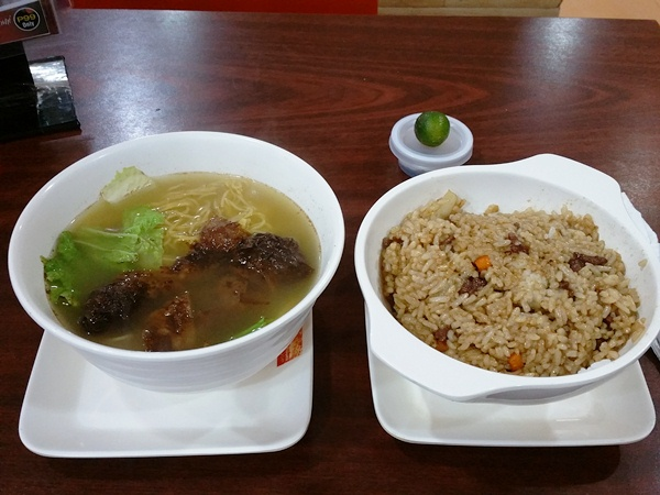 HK GO HIONG MAMIとBEEF RICE MEAL