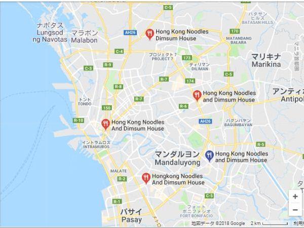 Hong Kong Noodles and Dimsum Houseの地図
