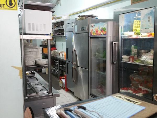 TSFグリルハウスの厨房